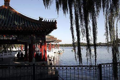 北京北海公园五龙亭
