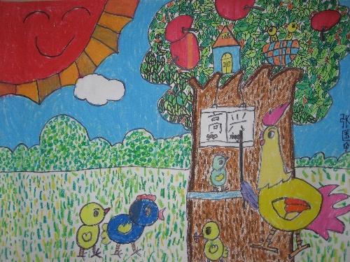 儿童涂鸦海底世界长卷