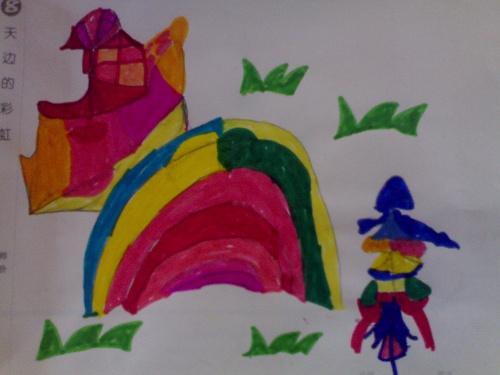 美术课作品—彩虹绘画-小树苗的家园(1.8)-搜狐博客