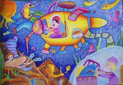 儿童科幻绘画图片