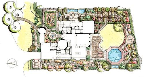 小庭院设计手绘平面图 小庭院设计 搜狐博客