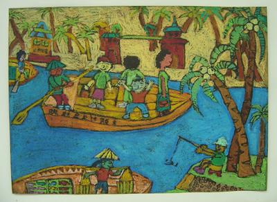 学生作品欣赏----儿童画-枫叶飘飘-搜狐博客