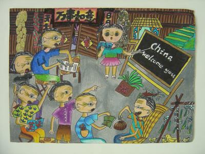学生作品欣赏----儿童画