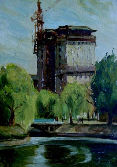 北京油画风景写生系列 - 宋达 全国知名画家-搜狐博客