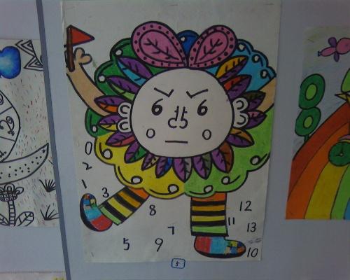 数学元素画_有数学元素的儿童画图片展示