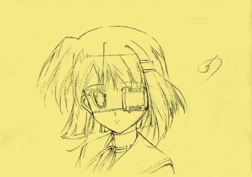 古代少女动漫图片手绘铅笔画