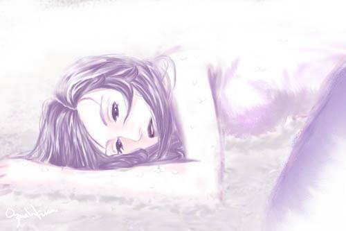 不开心失眠图片可爱