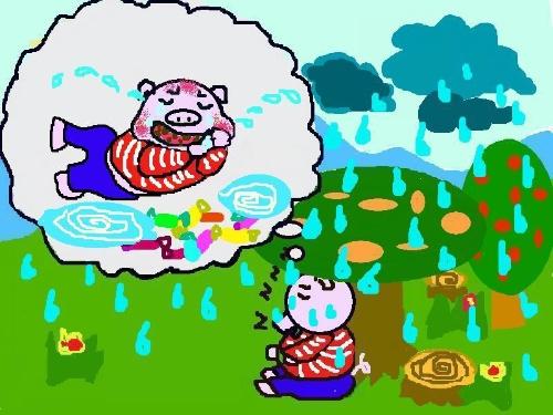 自编小童话——爱吃糖的猪猪