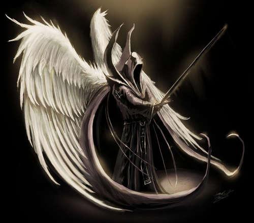 """""""但是在术士撰写的魔法书里,召唤天使不仅仅能为召唤者提供帮助"""
