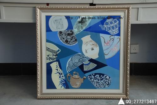 广告博人圈 中国传统装饰画 我和同学 作品图片