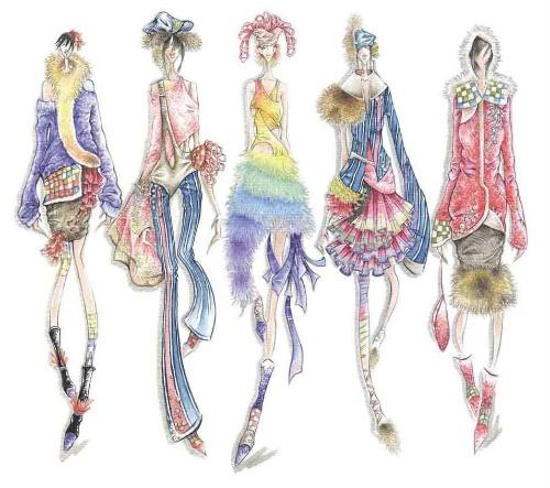 服装效果手绘设计图 康康 搜狐 手绘校服设计图手绘款式作