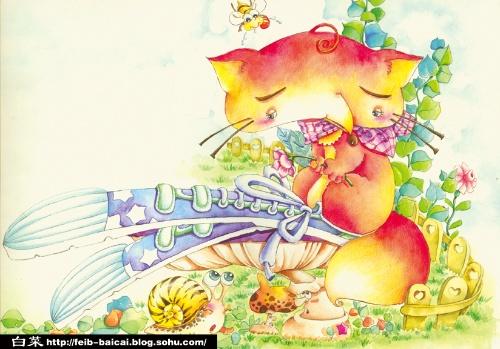 手绘水彩——《大脚丫的小狐狸》