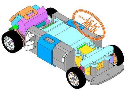 结构简单的遥控赛车