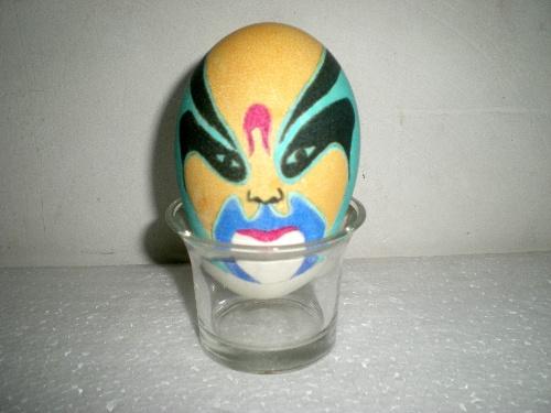 在鸡蛋上画脸谱分享展示
