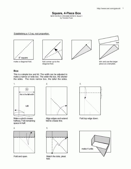 正方形礼盒的折法 - 引荷雪的博客