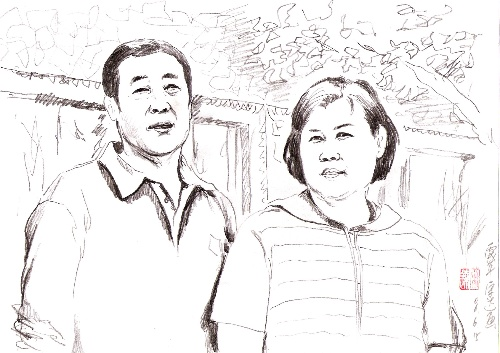 宋达速写旧作三幅(北京动物园