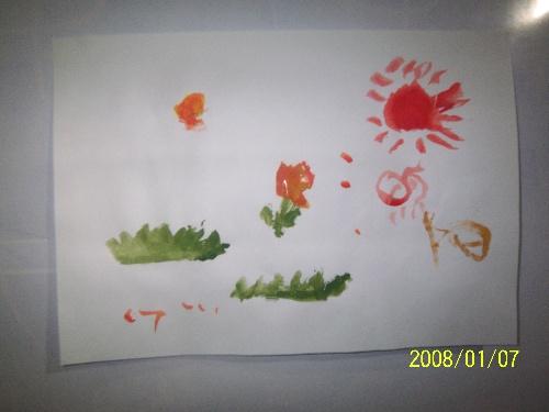 幼儿园太阳作画