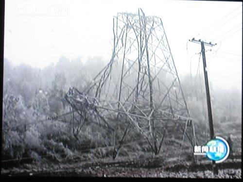 倒塌的高压电塔