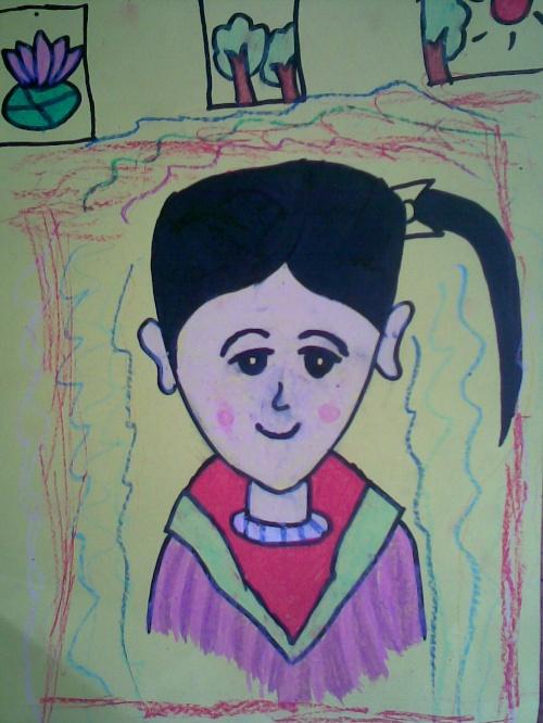 小姑娘的作品线条老练,色彩渐变在服装上体现得很好.