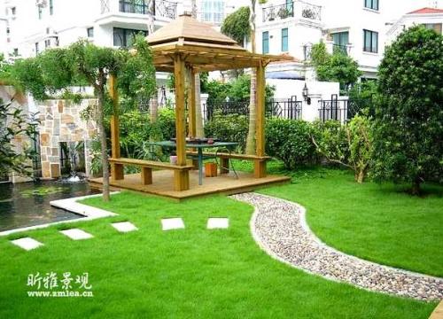 庭院设计及施工花园营造景观设计水幕墙假山水景设计
