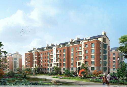 多层住宅南立面效果图-中央美域多层住宅效果图 大同楼盘效果图 0352