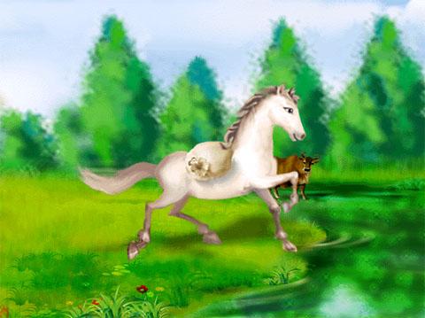 小马简笔画图片; 童话故事《小马过河》读后感[图]