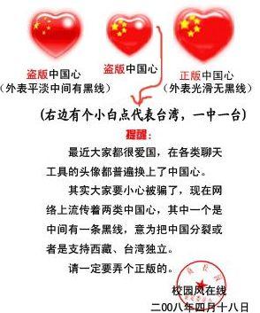 关于心形国旗qq头像``中国心