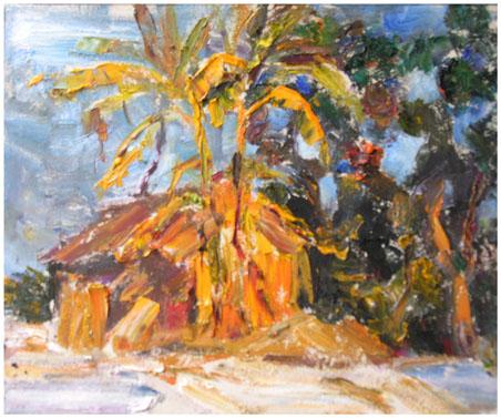 粤北英徳写生 --《芭蕉树》 - 油画焦点 - 文学艺术