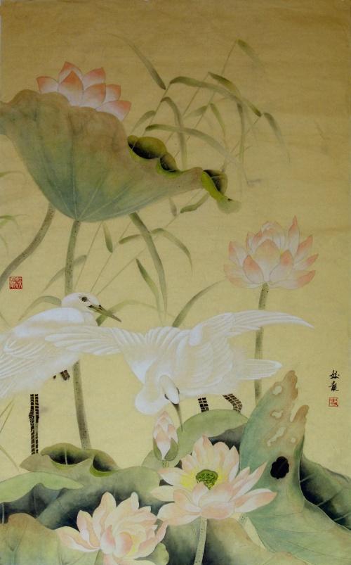 """中国画的线条是在中国书法的基础上,有""""书意""""的线条."""