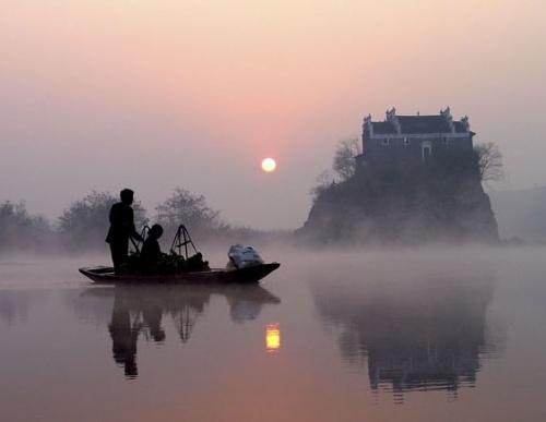 在湖南永州香零山创作的风光作品