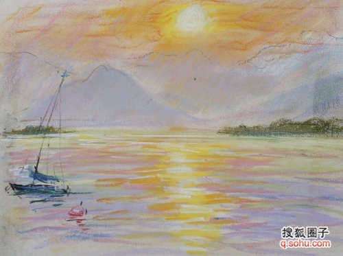 湖融日 孙奇龄风景速写